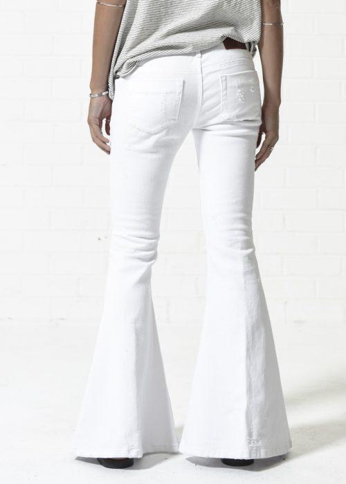 Pantalones campana Luxe white - ONETEASPOON
