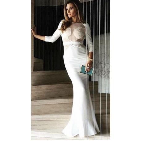 Vestido largo blanco - ELISABETTA FRAN